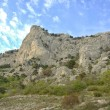 Landscape of a mountain valley in Crimea - Stock Photo