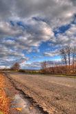 Höstens road — Stockfoto