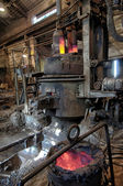 Space in the steel plant — Stock Photo