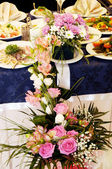 Wedding banquet hall — Stock Photo