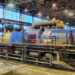 Stock Photo: Steam turbine at power plant