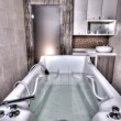 Jacuzzi Spa Bathtub — ストック写真