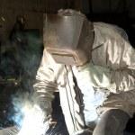 ������, ������: Welding steel structure in factory