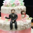 Wedding cake topper — Stock Photo