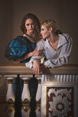 Beautiful couple in the clothing of the 18th century — Stock Photo