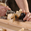 Joinery workshop with wood — Stock Photo #41143853
