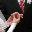 Hands of newlyweds — Stock Photo #4405312