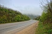 在克里米亚的路 — 图库照片
