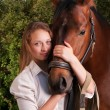 Young woman and horse — Stock Photo #47009547