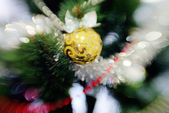 Christmas tree with toys. Background. — Stock Photo