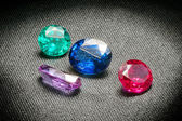 Beautiful glowing gems — Stock Photo