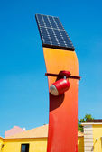 Solar street light — Stock Photo