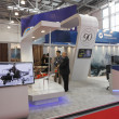 International Exhibition  Helicopter Industry - Stock Photo