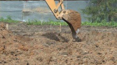 Excavadora — Vídeo de Stock