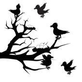 Tree with bird — Stock Vector