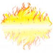 Flame on white background — Stock Vector