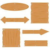 Wooden boards on white background — Vecteur