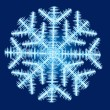 Stock Vector: Ice Snowflake