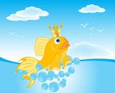 Goldfish seaborne — Stock Vector