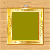 Frame on wall from tree — Vector de stock