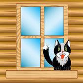 Window in house — Stock Vector
