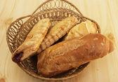 Chléb a domácí pečení — Stock fotografie