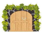 Wooden gates — Stock Vector