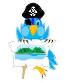 Bird pirate — Stock Vector
