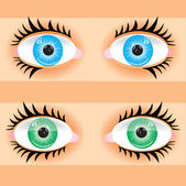 Eye of the person — Stock Vector