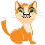 Redhead kitten — Stock Vector
