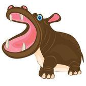 Tecknade djur flodhäst — Stockvektor