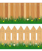 Two fences from tree — Stock Vector