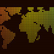 Royalty-Free Stock Photo: Halftone world map