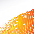 Orange 3d abstract background — Stock Photo