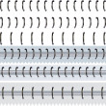 Set metallic spiral binder — Stock Vector