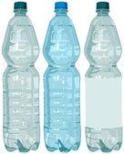 Bouteille en plastique avec de l'eau — Vecteur