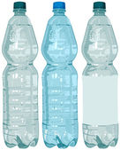 Plastic bottle with water — Vector de stock