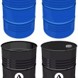 Set barrel oil isolated — Stok Vektör