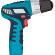 Cordless Drill electric work tool. Illustration — Vettoriali Stock
