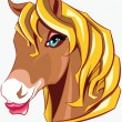 Horse head — Vector de stock #34813635