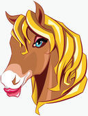 Horse head — Vector de stock
