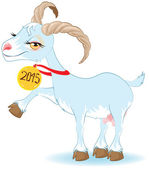 Blue Goat, Symbol 2015 — Vector de stock