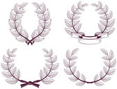 Wreath of the winner — Stock Vector