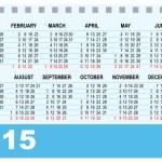 Desk calendar 2015 template — Stock Vector #50965897