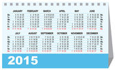 Desk calendar 2015 template — Vettoriale Stock