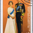 Постер, плакат: BELIZE CIRCA 1979: A stamp shows the royal family