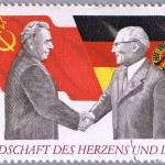 Brezhnev and Honecker — Stock Photo #16989261
