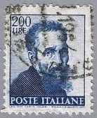 Porträt des michelangelo buonarroti — Stockfoto