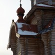 Wooden orthodox church exterior, Russia — Stock Photo #2764088