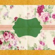 Vintage paper card with flowers pattern — Stock Photo